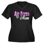 Air Force Mom Women's Plus Size V-Neck Dark T-Shi