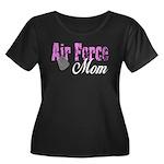 Air Force Mom Women's Plus Size Scoop Neck Dark T