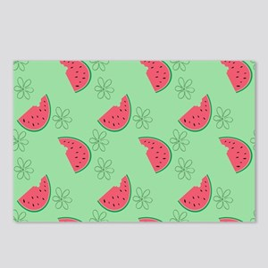Watermelon Flowers Postcards (Package of 8)