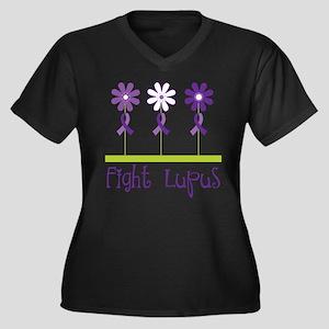 Lupus Awareness Daisy Plus Size T-Shirt
