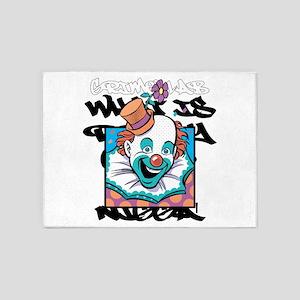 clown, freak,circus,grime lab,carto 5'x7'Area Rug
