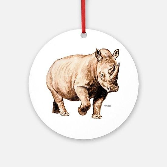 Rhino Rhinoceros Ornament (Round)