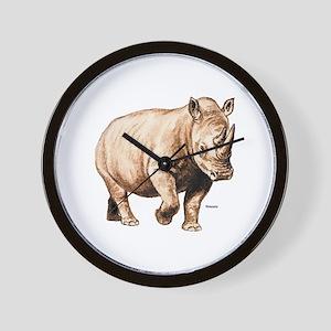 Rhino Rhinoceros Wall Clock