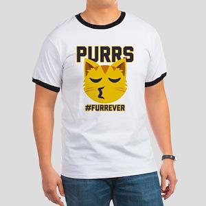 Emoji Purrs Furrever Ringer T