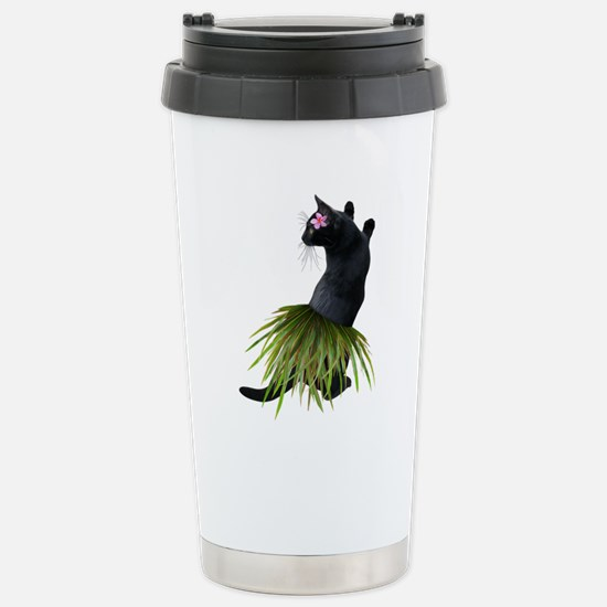 Hula Cat Travel Mug