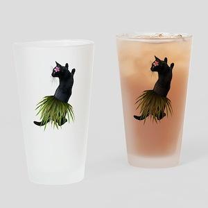 Hula Cat Drinking Glass