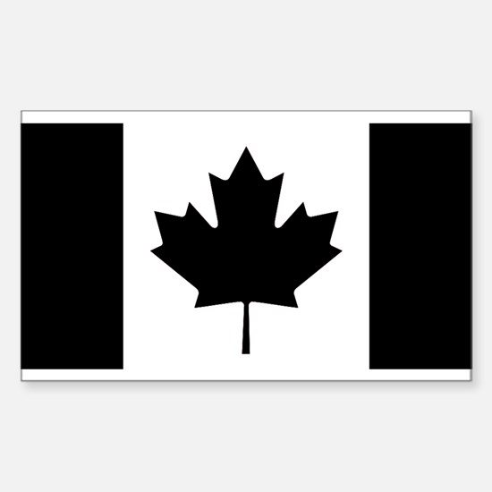 Canada: Black Military F Decal