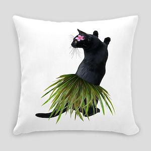 Hula Cat Everyday Pillow