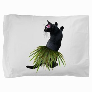 Hula Cat Pillow Sham