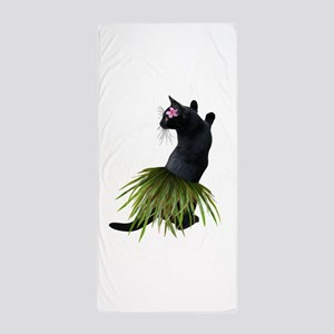 Hula Cat Beach Towel