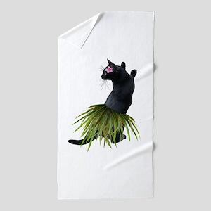 Hula Cat Beach Towel