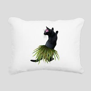 Hula Cat Rectangular Canvas Pillow
