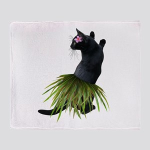 Hula Cat Throw Blanket