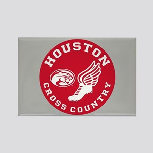 Houston Cross Country Rectangle Magnet