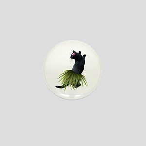Hula Cat Mini Button