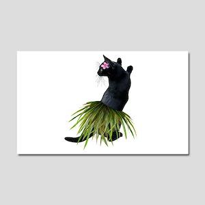 Hula Cat Car Magnet 20 x 12