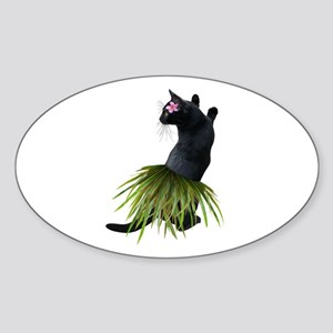 Hula Cat Sticker