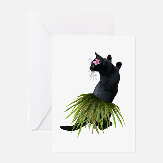 Hula Cat Greeting Cards