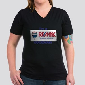 Re/max Rockstar Ladies V-Neck T-Shirt