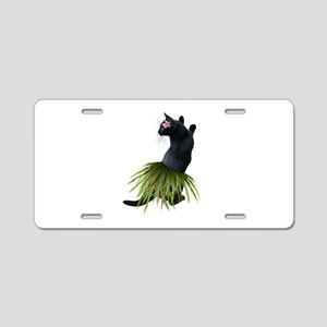 Hula Cat Aluminum License Plate