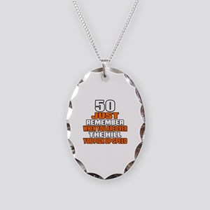 50 Just Remember Birthday Desi Necklace Oval Charm