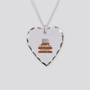 50 Just Remember Birthday Des Necklace Heart Charm
