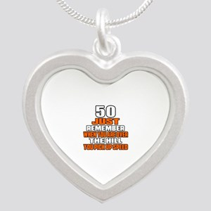 50 Just Remember Birthday De Silver Heart Necklace