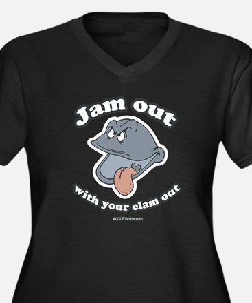 Jam out with your clam out Women's Plus Size V-Nec