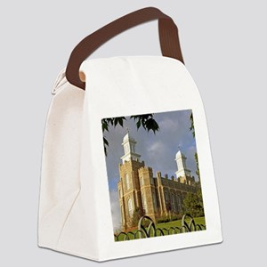 Logan Temple,Cache Valley Canvas Lunch Bag
