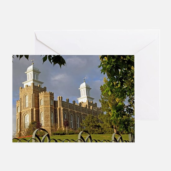 Logan Temple,Cache Valley Greeting Card