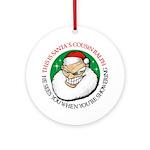 Santa's Cousin Ralph Ornament (Round)