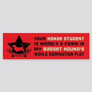 Basset Hound Domination Bumper Sticker