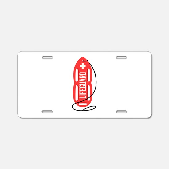LIFEGUARD Aluminum License Plate