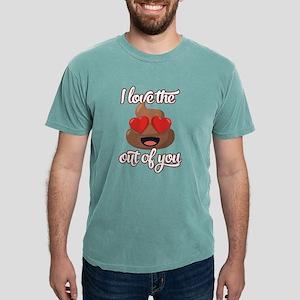 Emoji Love The Poop Out Mens Comfort Colors Shirt
