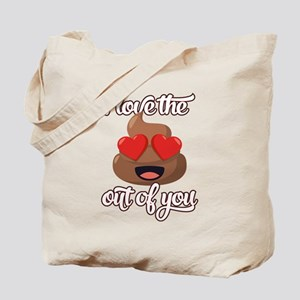 Emoji Love The Poop Out of You Tote Bag