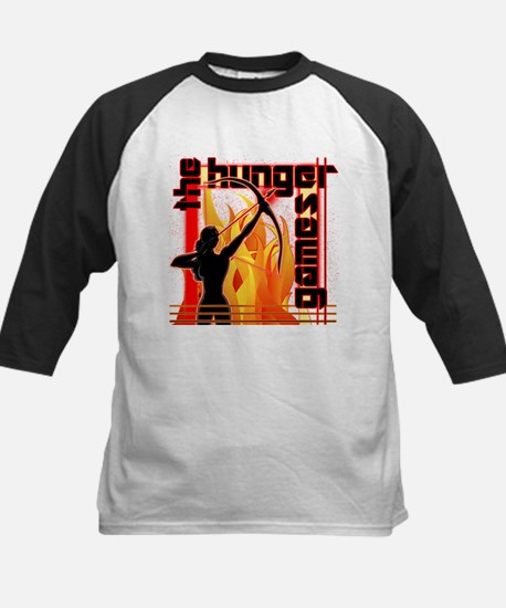 Katniss on Fire Hunger Games Gear Baseball Jersey