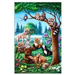 Forest Friends Large 23x35 Poster