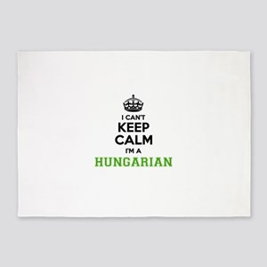 Hungarian I cant keeep calm 5'x7'Area Rug