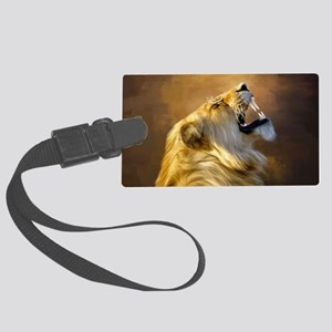 Roaring lion portrait Luggage Tag