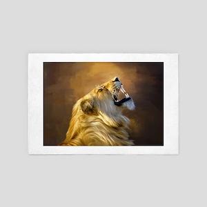 Roaring lion portrait 4' x 6' Rug