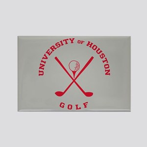 University of Houston Golf Rectangle Magnet