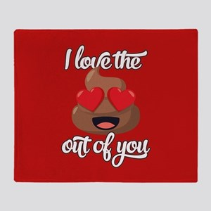 Emoji Love The Poop Out of You Throw Blanket