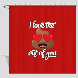 Emoji Love The Poop Out of You Shower Curtain