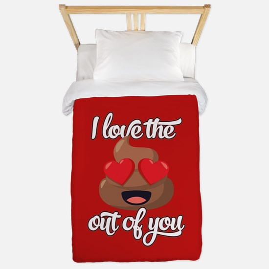 Emoji Love The Poop Out of You Twin Duvet Cover