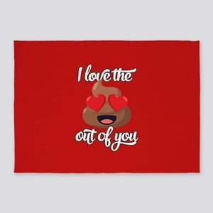 Emoji Love The Poop Out of You 5'x7'Area Rug