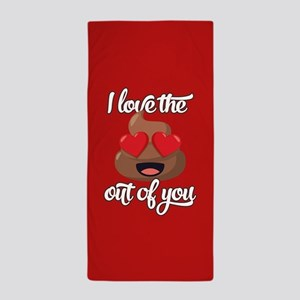 Emoji Love The Poop Out of You Beach Towel