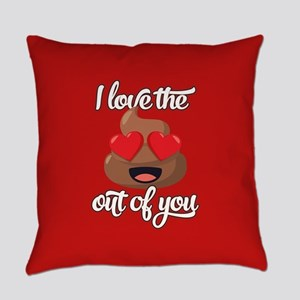 Emoji Love The Poop Out of You Everyday Pillow