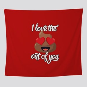 Emoji Love The Poop Out of You Wall Tapestry