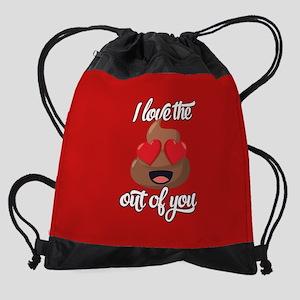 Emoji Love The Poop Out of You Drawstring Bag