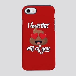 Emoji Love The Poop Out of Y iPhone 8/7 Tough Case